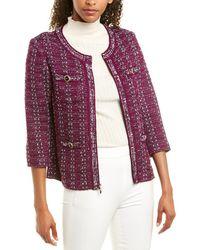 St. John Wool-blend Jacket - Purple