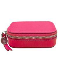 ILI Small Leather Pill Box - Pink