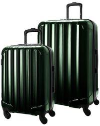 Genius Pack Aerial Hardside Carry On Spinner - Green