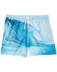 Sundek Wave - Print Swim Shorts - White