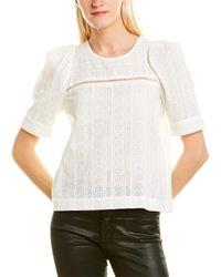 A.L.C. Wallis Knit Top - White