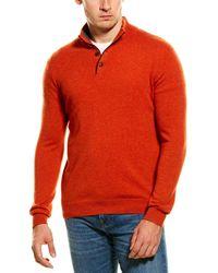 Forte Cashmere Mock Neck Sweater - Orange