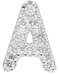 Nephora - 14k 0.04 Ct. Tw. Diamond Single Initial Earring - Lyst