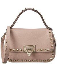 Valentino Garavani Rockstud Large Leather Shoulder Bag - Multicolor