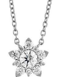 Hearts On Fire 18k 1.05 Ct. Tw. Diamond Aerial Cluster Pendant Necklace - Metallic