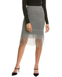 Akris Punto Pencil Skirt - Black