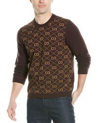 Gucci GG Wool Sweater - Brown