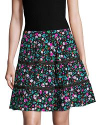Kate Spade Greenhouse Lace Inset Skirt - Black