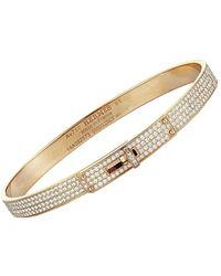 Hermès Hermes 18k Rose Gold 3.25 Ct. Tw. Diamond Bracelet - Metallic