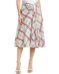 Prabal Gurung Moore Side Twist Silk Skirt - White