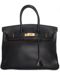 Hermès - Black Togo Leather Birkin 35cm Ghw - Lyst