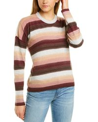 ATM Anthony Thomas Melillo Striped Wool-blend Jumper - Brown