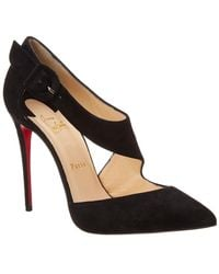 outlet store 06d11 fd37e Christian Louboutin Harler 100 Suede Pump in Black - Lyst