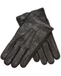 Jil Sander - Leather Ribbed Front Gloves - Lyst