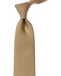 Ferragamo Yellow Bears Silk Tie