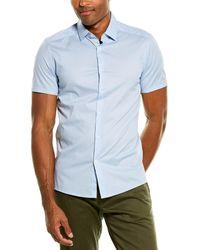 Reiss Redmayne Slim Fit Woven Shirt - Blue