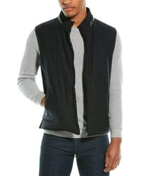 Corneliani Wool And Angora - Lined Suede Vest - Black