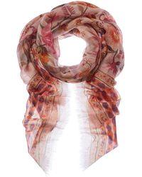 Ferragamo Printed Cashmere Shawl - Pink