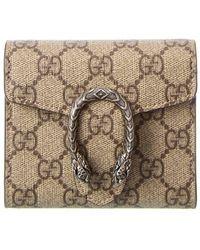 Gucci Dionysus GG Supreme Canvas Card Case - Multicolour
