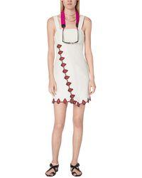 10 Crosby Derek Lam Inia Embroidered Cami Mini Dress - White