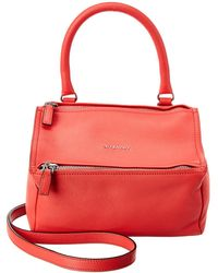 Givenchy Pandora Small Leather Shoulder Bag - Red