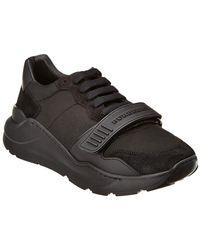 Burberry Suede & Neoprene Sneaker - Black