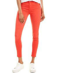 7 For All Mankind 7 For All Mankind Highwaist Bril Red Ankle Skinny Leg