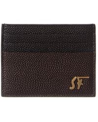 Ferragamo Credit Card Holder - Brown