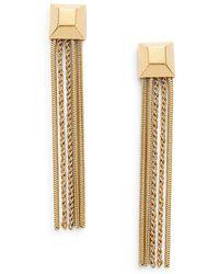 Diane von Furstenberg Cubism Chain Tassel Drop Earrings - Metallic