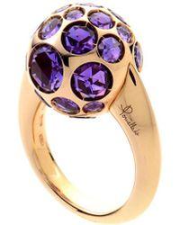 Pomellato 18k Rose Gold Amethyst Ring - Multicolor
