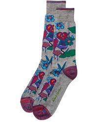 Robert Graham Hearst Socks - Grey