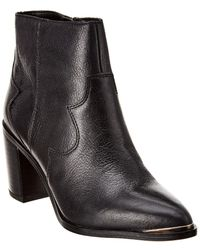 Franco Sarto Bushwick Leather Bootie - Black