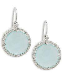 Suzanne Kalan - Chalcedony, White Sapphire & 14k Drop Earrings - Lyst