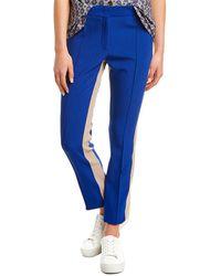 Derek Lam Tuxedo Stripe Wool-blend Trouser - Blue