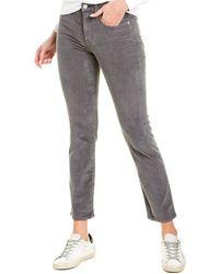 J.Crew Corduroy Vintage Straight Pant - Gray