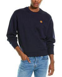 KENZO Tiger Crest Crewneck Sweatshirt - Blue