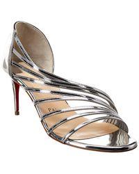 Christian Louboutin Norina 70 Patent Sandal - Metallic