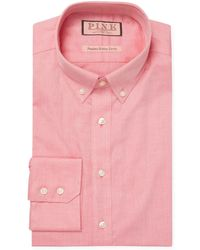 Thomas Pink Solid Button-down Dress Shirt - Red