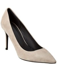 Theory Braxia Suede Pump - White