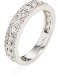 Nephora - 14k White Gold & 0.75 Total Ct. Pave Sided Diamond Ring - Lyst