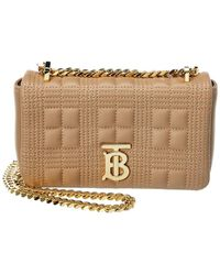 Burberry Lola Mini Quilted Leather Crossbody - Natural