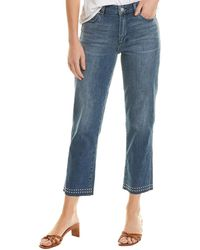 Vince Camuto Studded Spectrum Blue High-rise Crop Jean