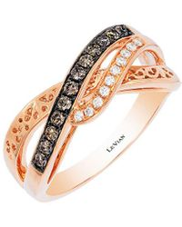 Le Vian Chocolatier Diamond And 14k Rose Gold Ring - Metallic