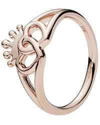 PANDORA Rose United Regal Hearts Ring - Metallic
