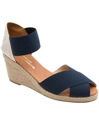 Andre Assous Erika Wedge Espadrilles - Blue