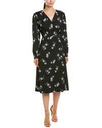 Kensie Simply Floral Wrap Dress - Black