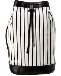 Dolce & Gabbana Canvas & Leather Backpack - Black