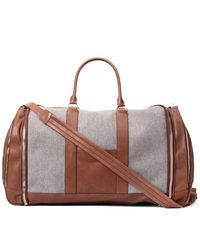 Brunello Cucinelli Leather Duffle Bag - Grey