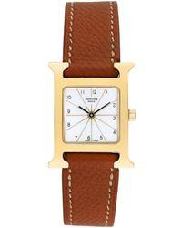 Hermès Hermes Women's H-watch Watch, Circa 2000s - Brown