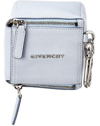 Givenchy Pandora Leather Cube Pouch - Blue
